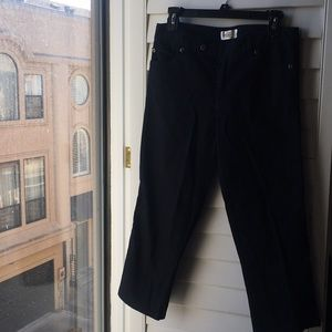 Black stretch cotton Talbots jean like pants